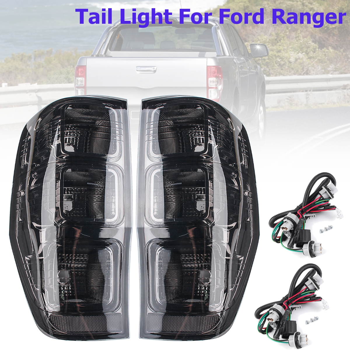 цена на Rear Left/Right Tail Smoked Rear Tail Lights Lamp for Ford Ranger PX T6 MK1 MK2 WildTrak XLT XL XLS