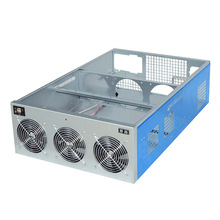 19Inch Rackmount Crypto Coin Case Mining Rig Frame GPU Holder USB Miner Panel Computer Case Sever Mechine Chassis RX 480 570 580