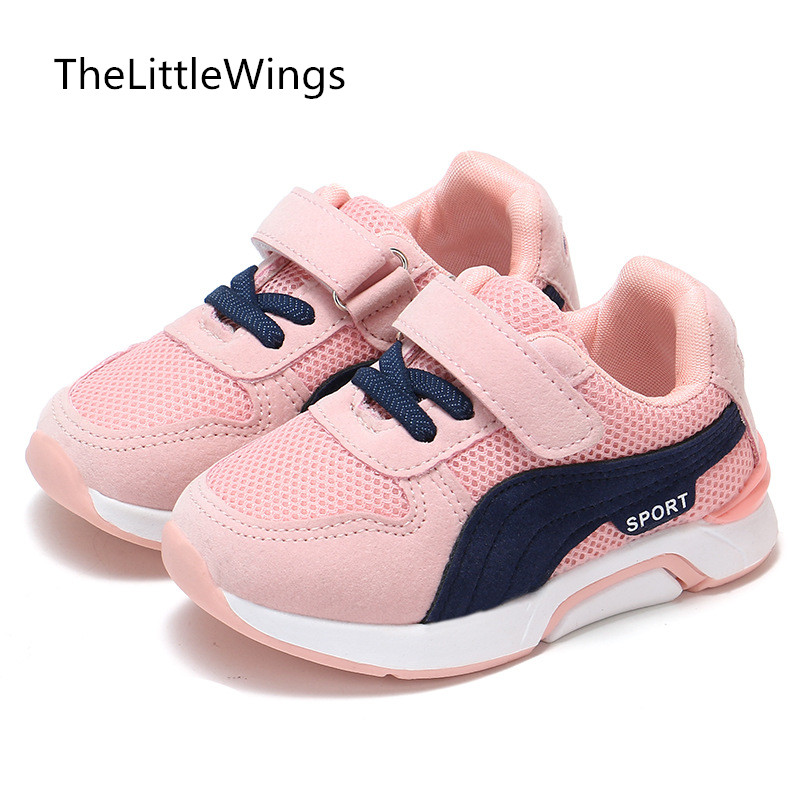 2018 Autumn new baby girls shoes flat boys outdoor kids Net cloth casual shoes sneakers soft pu leather loafers 1-8 years old