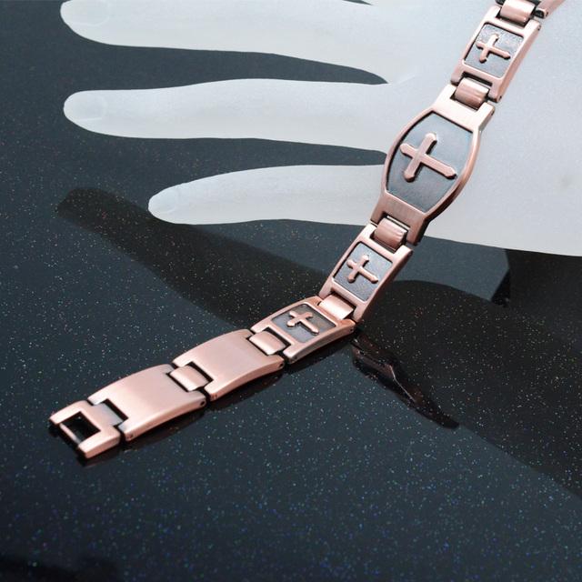 Magnetic Health Men Bracelet with Cross Pattern
