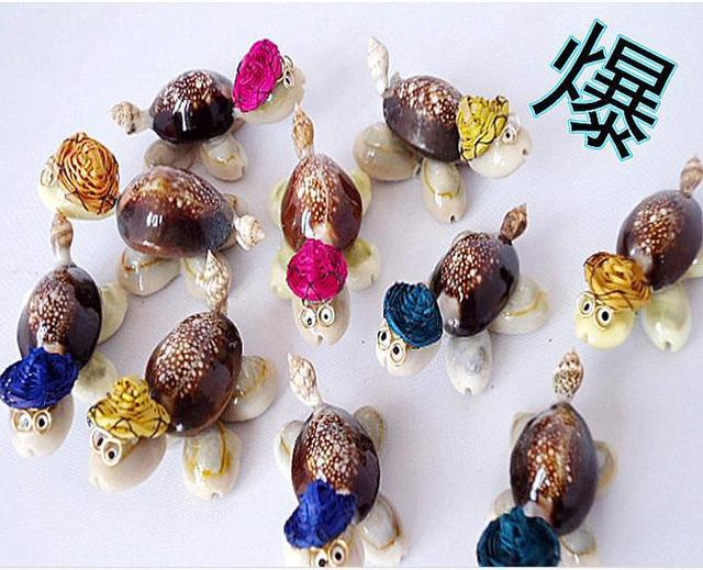 10pcs Lot Hot New Creative Gift Conch Shell Crafts Ornaments Small Bespectacled Little Turtle Gifts