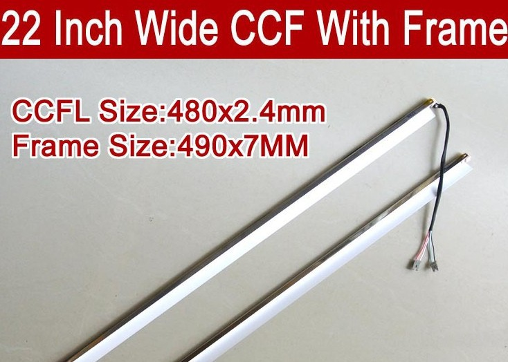 480mm 22 Inch Wide Dual Lamps CCFL With Frame,LCD Lamp Backlight With Housing,CCFL With Cover