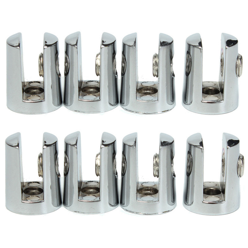 8Pcs Round Shelves Support Brackets Clamps Clips For 4-6mm Glass Wooden Acrylic Adjustable screw Fix for Wood Glass Acrylic 8pcs round shelves support brackets clamps clips for 4 6mm glass wooden acrylic adjustable screw fix for wood glass acrylic