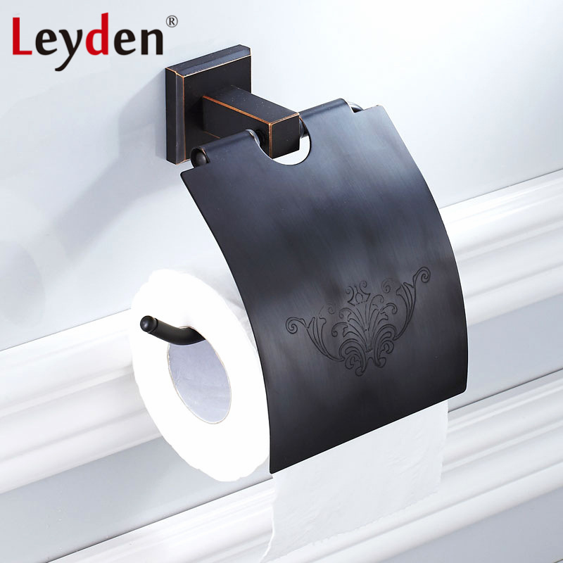 Us 47 62 Leyden New Br Oil Rubbed Bronze Toilet Paper Holder Black Wall Mounted Tissue Bathroom Accessory In