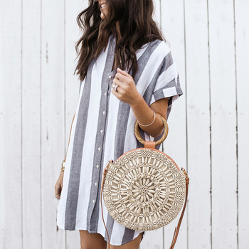 AVODOVAMA M 2018 Summer Dress Women Casual Loose Striped Sundress Fashion Sexy Mini Stand Collar Short Sleeve Dresses