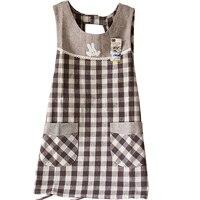 Korean Version Of Cloth Cotton Linen Kitchen Clean Apron Tea Shop Uniforms
