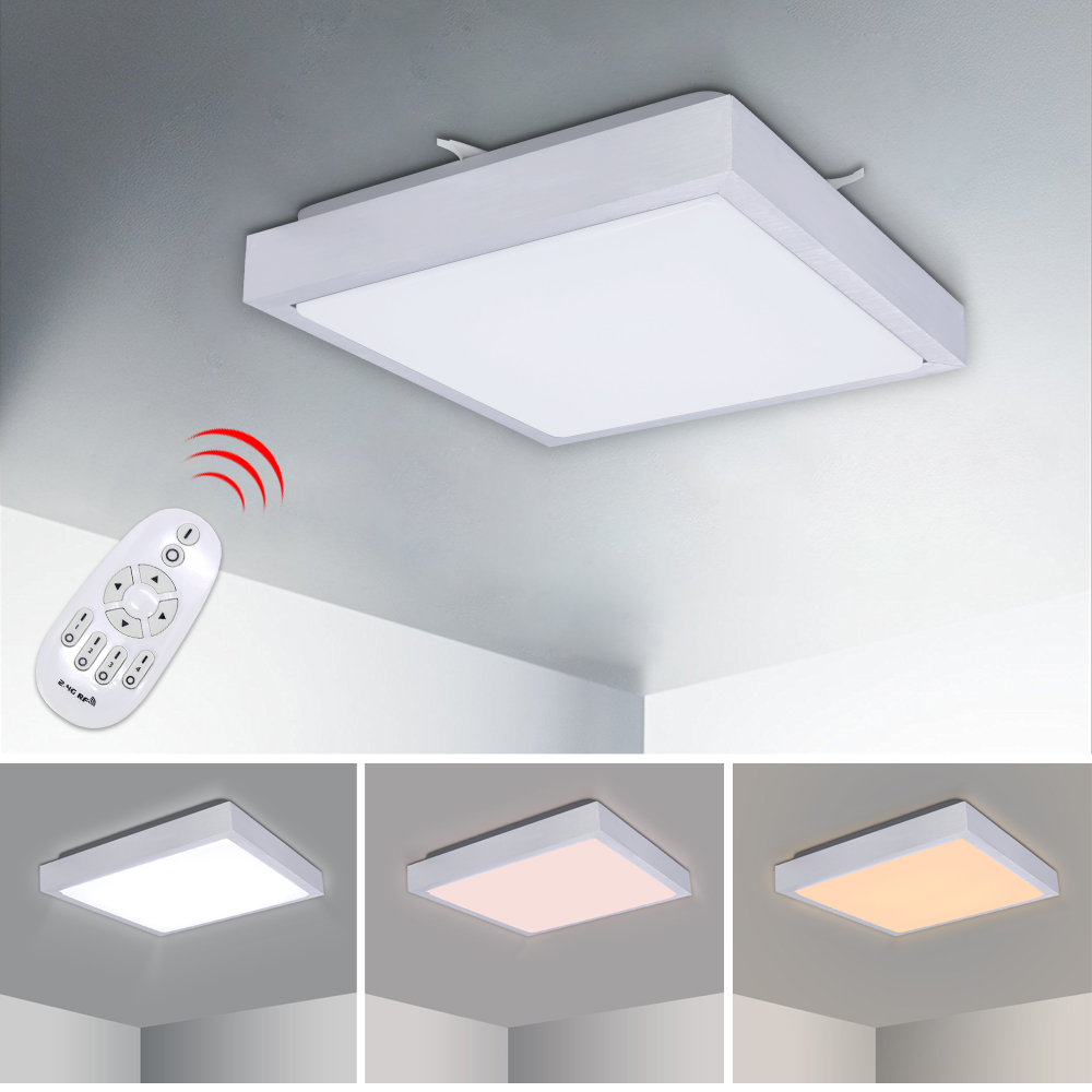 Dimmable Color Change 12W Modern LED Ceiling Light Thickening Square Lighting Fixture Kitchen Living Room Bedroom