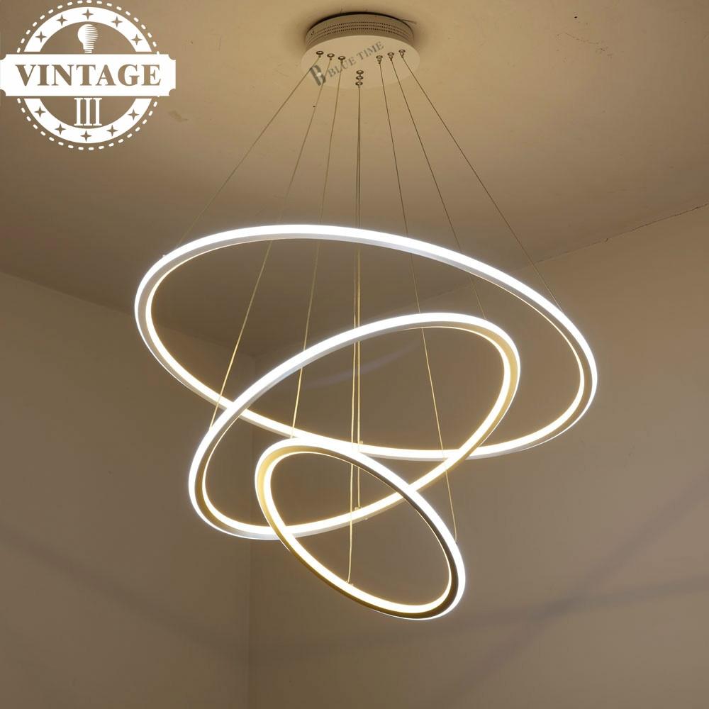 Vintagelll Living /Dining Room LED Lustre Pendant Lamp  Modern Decorative 3 Circle Rings LED Pendant Lights for Hanging Ceiling circle