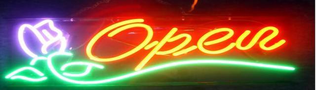 Open Neon Light Sign Beer Bar