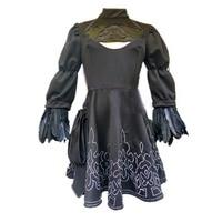 2017 NieR:Automata Game heroine 2B Black Dress cosplay Costume