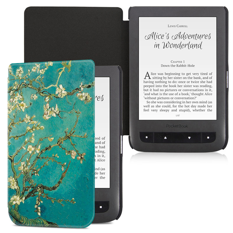BOZHUORUI Cover Case For  Pocketbook Aqua 2/Touch Lux 3 E-Books,Fashion Painted Pocketbook 626/641 Ultrathin PU Leather Case