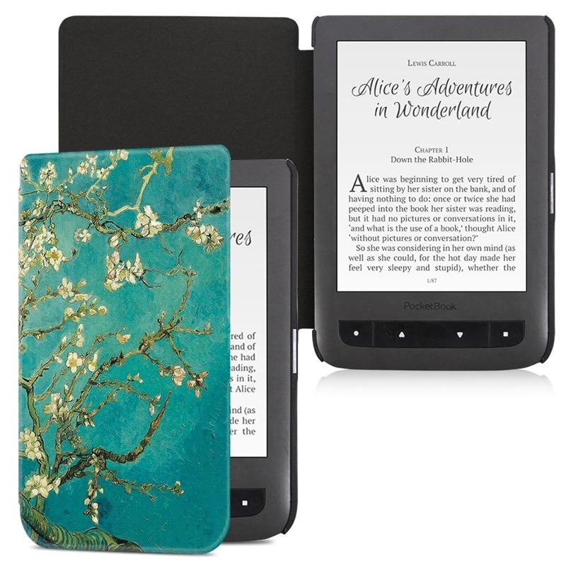 BOZHUORUI Cover case for  Pocketbook Aqua 2/Touch Lux 3 e-Books,Fashion Painted 626/641 Ultrathin PU Leather