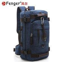 Reiserucksack männer umhängetasche große kapazität neue tasche mehrzweck Leinwand Big bag dark blue, braun