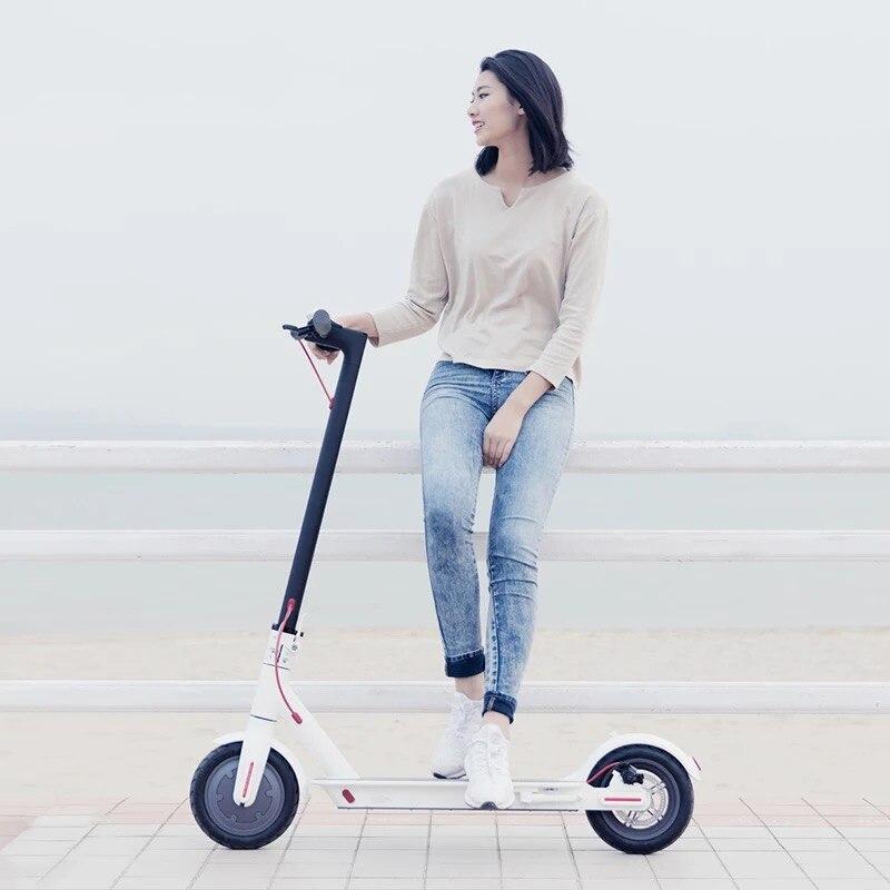 Original XIAOMI QICYCLE SCOOTER électrique pliant portable mini loisirs 8.5 pouces 250 w moteur intelligent scooter cinétique récupération d'énergie - 3
