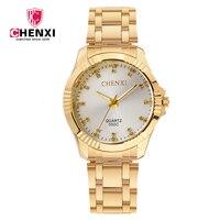 2018 NEW CHENXI 050C GOLD Watch Male Stainless Steel Quartz Men S Wristwatches Brand Luxury Men