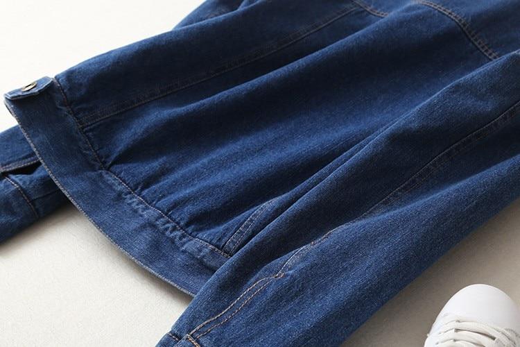Spring Autumn Winter New 2019 Women lambswool jean Coat With 4 Pockets Long Sleeves Warm Jeans Coat Outwear Wide Denim Jacket