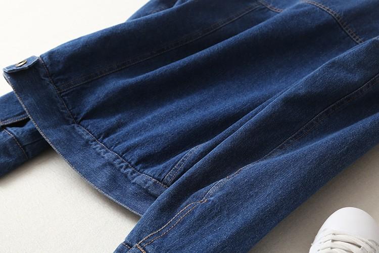 Spring Autumn Winter New 19 Women lambswool jean Coat With 4 Pockets Long Sleeves Warm Jeans Coat Outwear Wide Denim Jacket 14