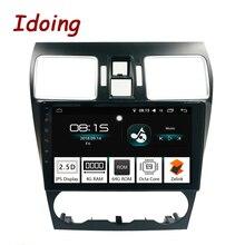 Idoing 1Din 9 «2.5D ips экран автомобиля Android8.0 радио GPS; Мультимедийный проигрыватель 4 г + 64 г Octa Core для Subaru WRX 2016-2018 навигации ТВ