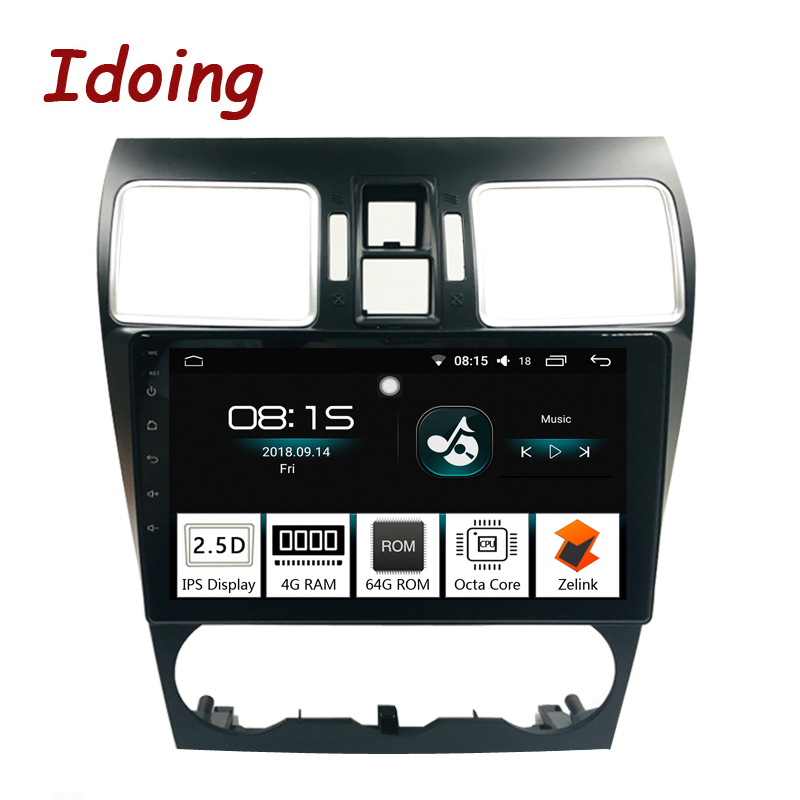 Idoing 1Din 92.5D IPS Screen Car Android8.0 Radio GPS Multimedia Player 4G+64G Octa Core For Subaru WRX 2016-2018 Navigation tv