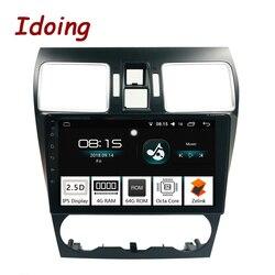 Idoing 1Din 9 2.5D ips экран автомобиля Android8.0 радио GPS; Мультимедийный проигрыватель 4 г + 64 г Octa Core для Subaru WRX 2016-2018 навигации ТВ