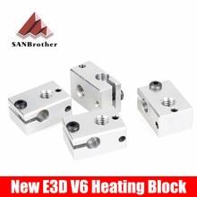 1 Pcs Alüminyum V6 Isıtıcı Blok HotEnd Için PT100 sensörü kartuşu Themocouple & Termistör için 3D Yazıcı Ekstruder sıcak sonu pa...