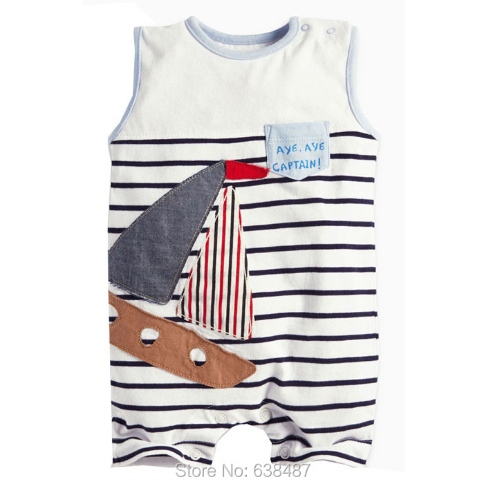 New 2018 Brand Quality 100% Cotton Newborn Baby Boys Rompers Clothing Short Sleeve One-pieces Jumpsuit Creeper Baby Boys Clothes baby boys girls summer cotton clothes white navy sailor uniforms rompers short sleeve one pieces jumpsuit babies clothing gifts