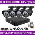 8CH HDMI DVR Outdoor 600TVL Home CCTV Surveillance Security Camera System 8ch DVR system