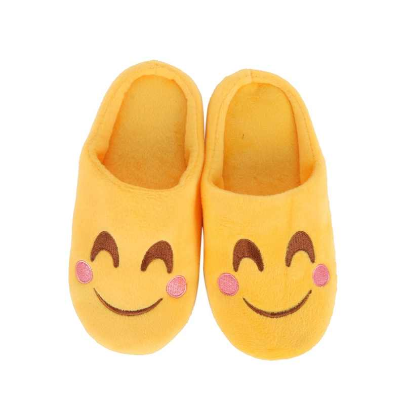 Zapatos de invierno para niños, zapatillas para niños, zapatos de Casa suaves y divertidos para niños, zapatillas de dibujos animados para niñas, zapatos de suelo para interiores, cara sonriente
