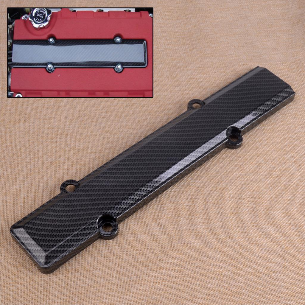 CITALL Durable Carbon Fiber Black ABS Car Valve Spark Plug Cover Fit For Honda VTEC B18 B16A B-Series Acura Integra