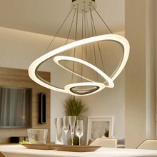 Modern Pendant Lights For Living Room Dining Room Circle Rings 3 Rings 4 Rings Acrylic Aluminum Body LED Ceiling Lamp Fixtures modern pendant lights for living room dining room circle rings 3 rings 4 rings acrylic aluminum body led ceiling lamp fixtures