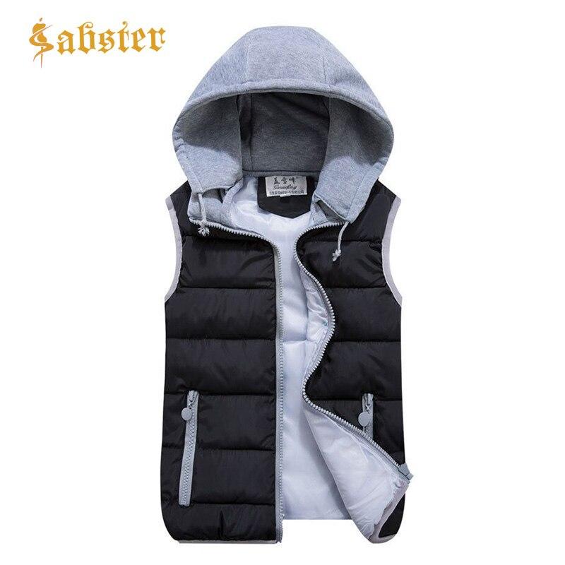 2018 Frauen Mit Kapuze Weste Herbst Winter Warme Baumwolle Gepolsterte Weste Abnehmbare Hut Zipper Jacke & Oberbekleidung Xz423