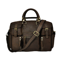 Top Quality Fashion Vintage Handmade Genuine Leather Handbag Laptop Messenger Bag For Men Large Capacity Male Tote Briefcase