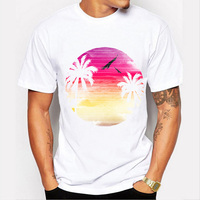 Summer Camisetas Mujer Tshirt Women Tops Tree Print O Neck Short Sleeve Camisetas Mujer Casual Tee