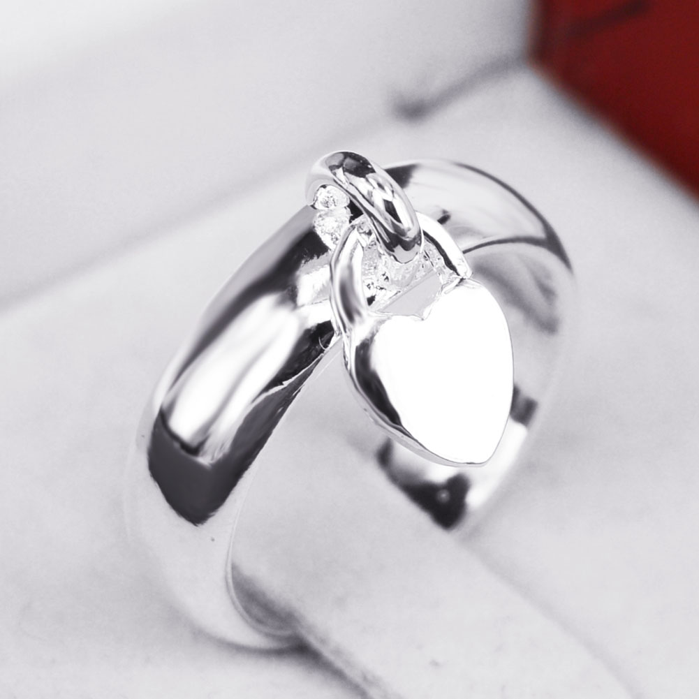 Redive jewelry ring jewelry sterling rings charm pendant heart for women dangle charm ring anillos bague anel feminino