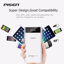 Pisen 20000 mAh Banque Universelle de Puissance Pour Samsung S8 Plus Pour iPhone 7 7 Plus 5S D'identification À Puce Double USB Port