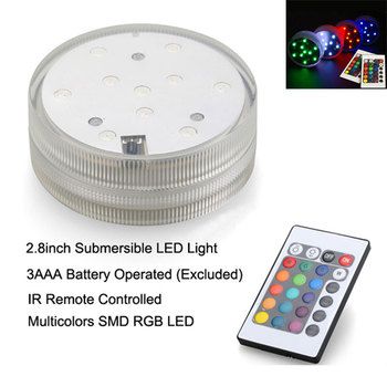 Free Shipping 10units/lot Remote Controlled Multi-colors Led Vase Light Base, Submersible lamps for Event Supplies