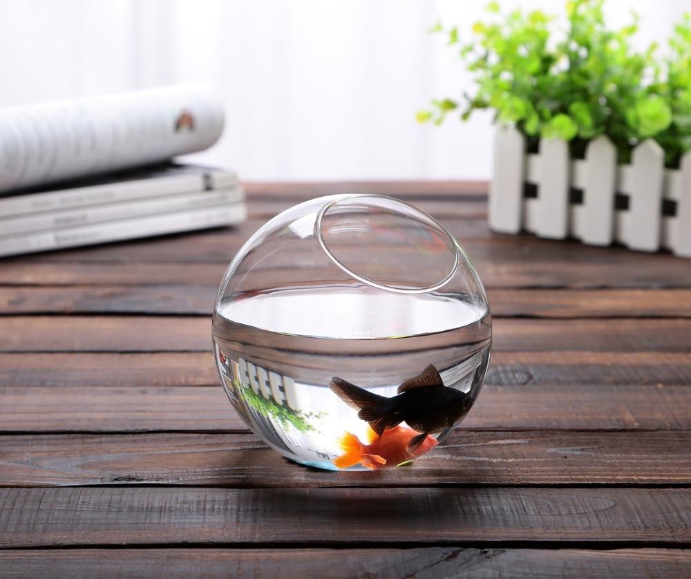 Fish aquarium india price - Dia12cm Round Glass Bowl Vase Succulent Terrarium Glass Fish Aquarium Landscape Kit Gift Event Party Wedding