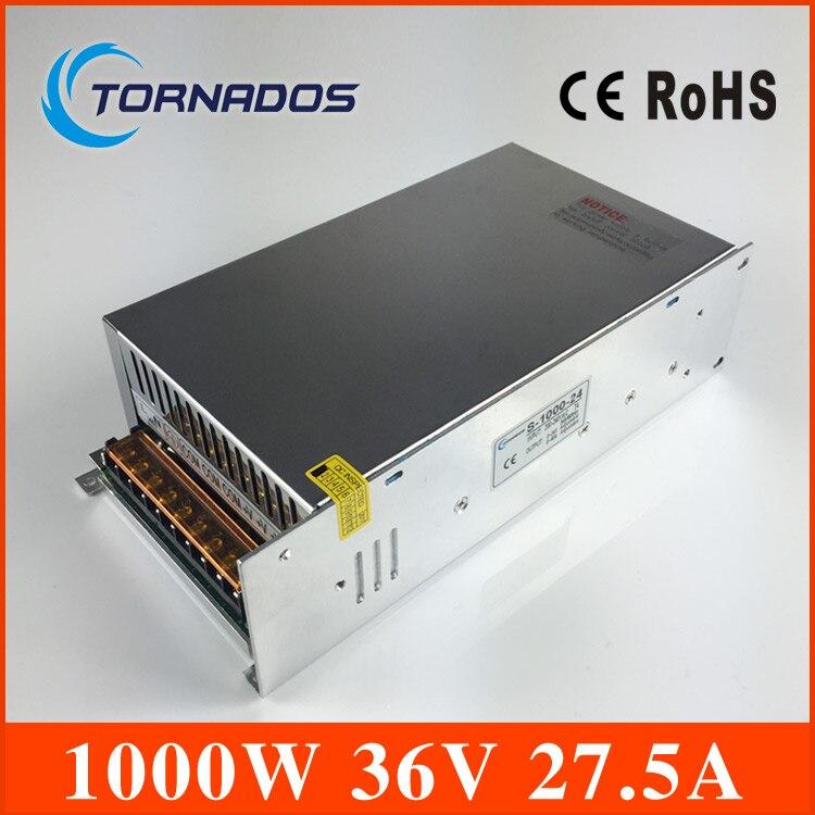 S-1000-36 haute puissance AC à DC petite taille dc 36 v alimentation 1000 w pour bande Led, transformateur AC110V/220 V à DC 36 v