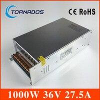 S-1000-36 high power AC naar DC kleine size dc 36 v voeding 1000 w Voor Led Strip, AC110V/220 V Transformator DC 36 v