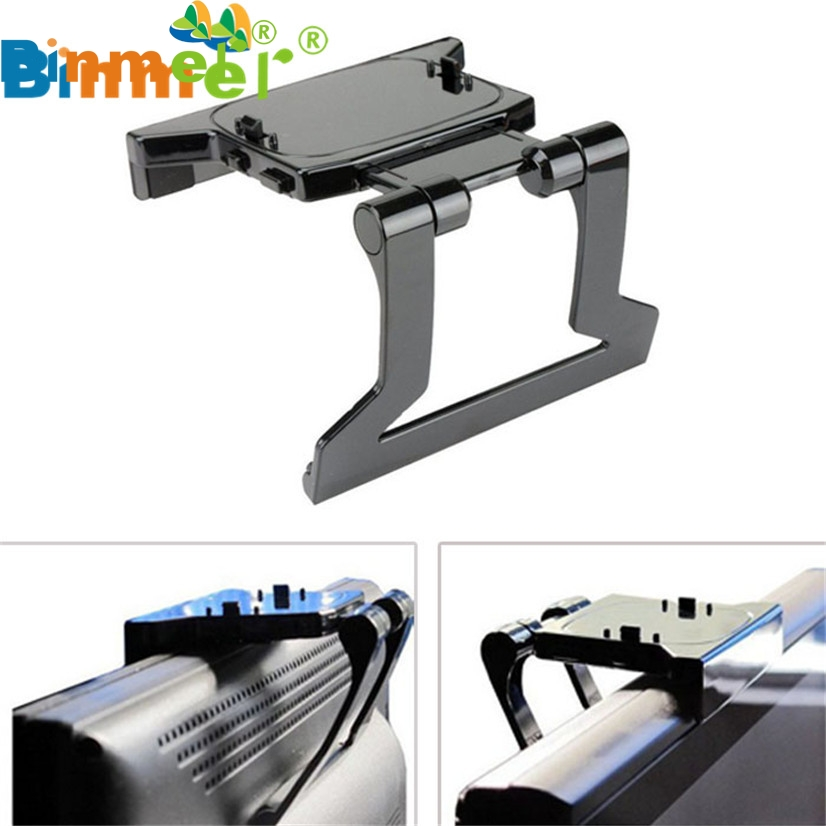 Factory Price Binmer New TV Clip Clamp Mount Mounting Stand Holder for Microsoft Xbox 360 Kinect Sensor 51102 Drop Shipping