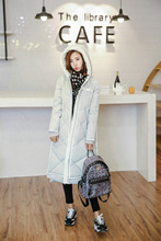 S-XL Women 90% White Duck Winter Thick Warm X-Long Down Coat Parka Female Fashion Hooded Jacket Outcoat Outerwear