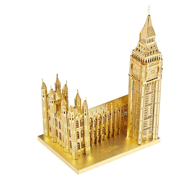 Diy Metal Assembly Model Building <font><b>Elizabeth</b></font> Tower <font><b>Puzzle</b></font> Educational toys Greative Manual Gifts Christmas Gift Toy Big Ben