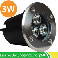 10Pcs Lot Recessed Uplighting For Sale 3W AC85 265V IP65 White Cool White Aluminum Parking Garden