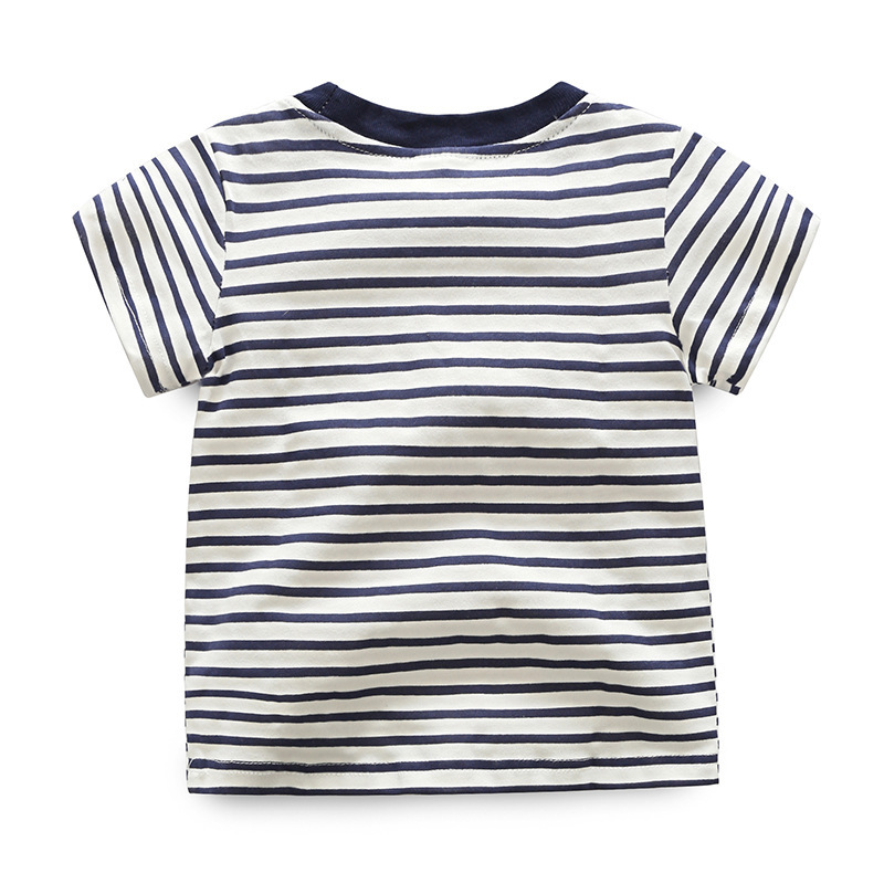 Jongens gestreepte T-shirt 2018 zomer korte mouw T-shirt kinderen - Kinderkleding - Foto 2