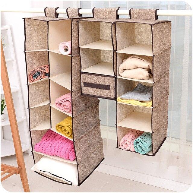 Hanging Box Underwear Sorting Clothing Shoe Jean Storage Mails Door Wall  Closet Organizer Closet Organizadores Bag