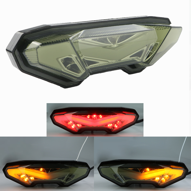 Motorcycle LED Rear Turn Signal Tail Stop Light Lamps Integrated For YAMAHA FZ-09 MT-09 FZ 09 MT 09 2014 2015 2016 new arrival black tempered plastic motorcycle rear tail section cowl fairing cover for yamaha fz6n fz6s fz 6n 6s fz 6n fz 6s