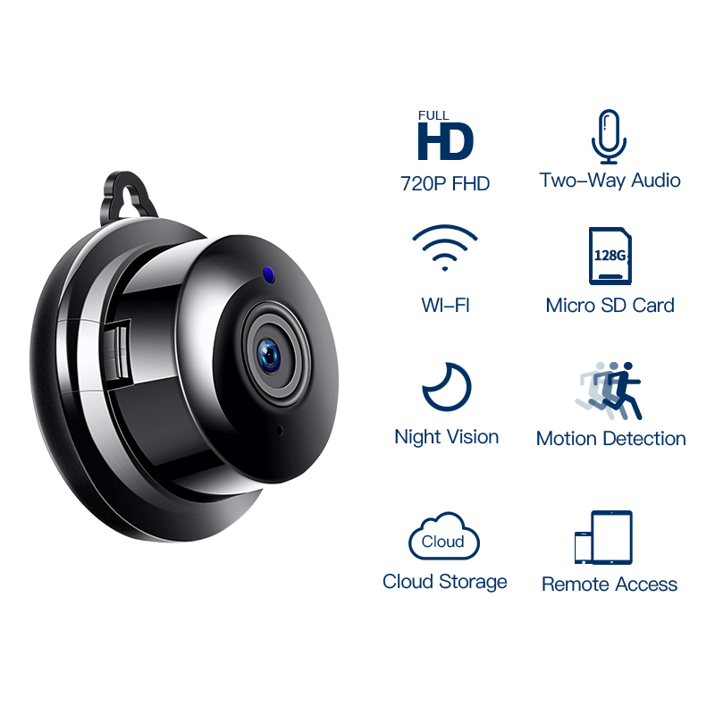 Image 2 - 1080P MINI IP Camera WIFI Security Wireless CCTV Camera Surveillance IR Night Vision Home Camera Motion Detection Small Camera-in Surveillance Cameras from Security & Protection