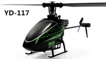 Original Attop YD-117 4CH Flybarless RC Helicopter With Gyro RTF Electrical Toy With New Remote Control