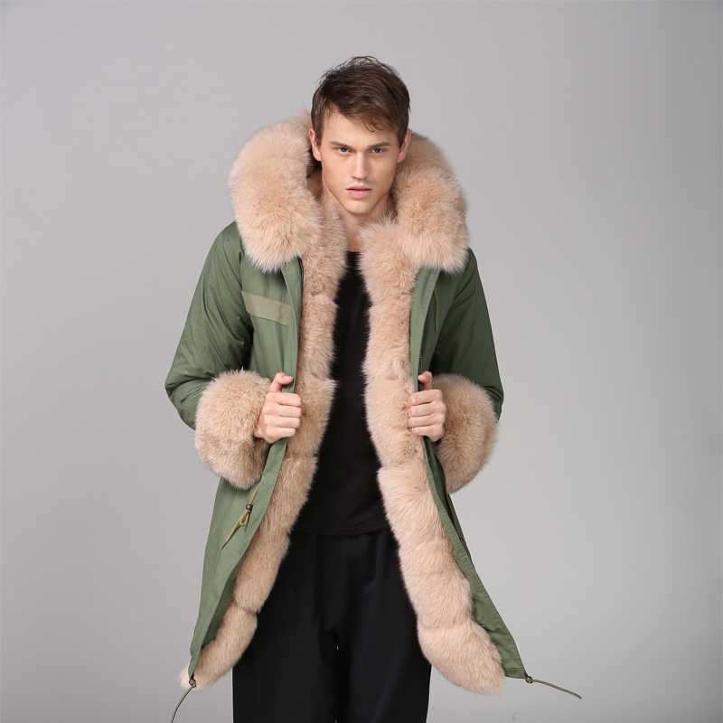 eab4906c2 Detail Feedback Questions about Fox Fur Wear Nude Color Mens Fashion ...