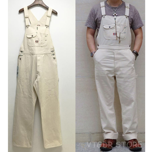 906a5d63e BOB DONG 40s Three In One Pocket High Back Vintage Overalls Men s ...